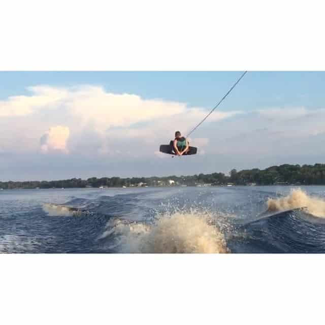 Our shaper and mastermind product designer @kylerobertschmidt has still got it folks!!! Get out and go ride this week #wakeboarding #madewithcareriddenwithout #DAD  @markrugala