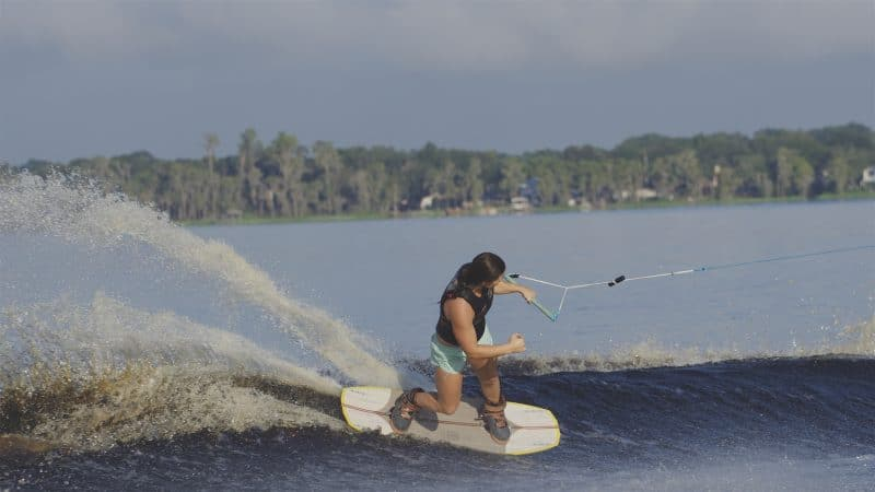 Wakeboard Designs: Abby Delgoff Using Sidecut